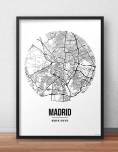 Affiche Poster Madrid Espagne Street Map