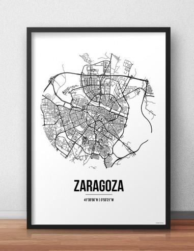 Poster Marseille Multicolor Map