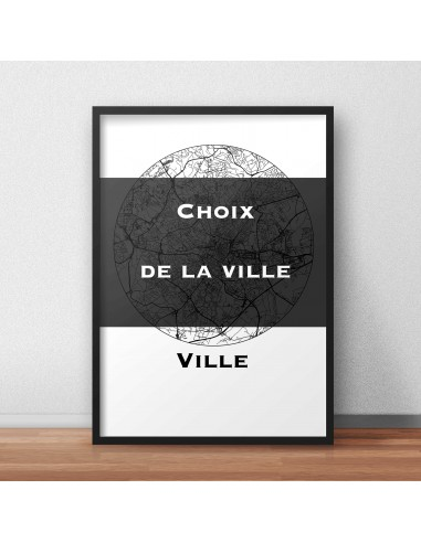 Poster Montpellier France Multicolor Map