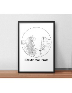 Poster Newcastle England Minimalist Map