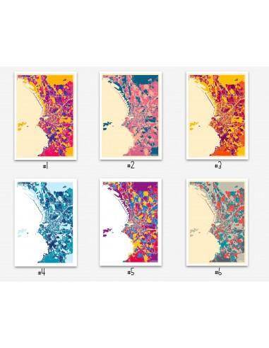 Affiche Lorient France Minimalist Map