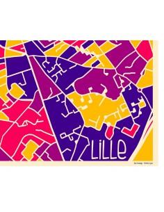 Poster Limoges France Street Map