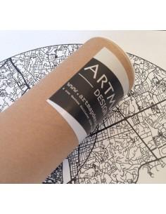 Affiche Madrid Espagne Minimalist Map