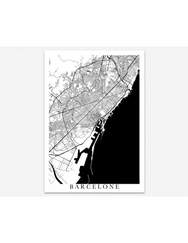 Poster Toulouse France Unicolor Map