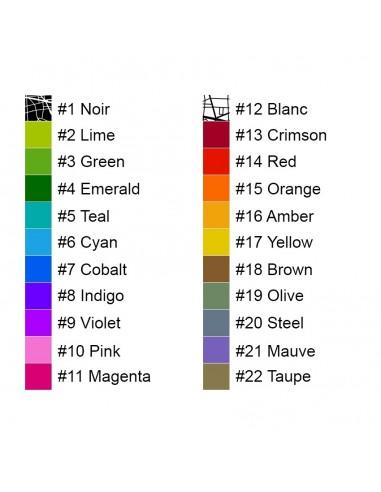 Affiche Bordeaux Unicolor Map