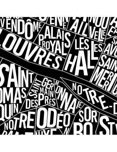 Poster Lyon France Unicolor Map