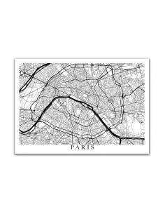 Affiche Poster Edimbourg Angleterre Street Map