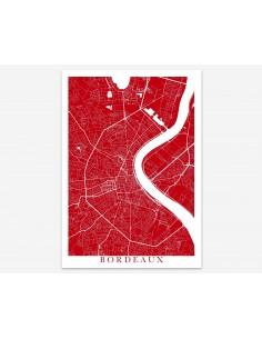 Affiche Poster Nouméa Minimalist Map