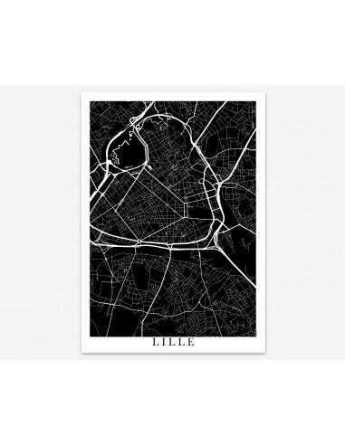 Affiche Poster Wisches France Minimalist Map