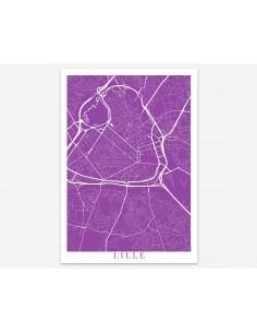 Poster Besançon France Minimalist Map