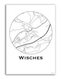 Poster Bourges France Minimalist Map