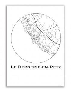 Affiche Poster Carcassonne France Minimalist Map